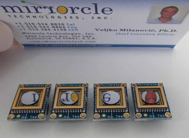 MEMS mirrors now available in volume from Mirrorcle Technologies
