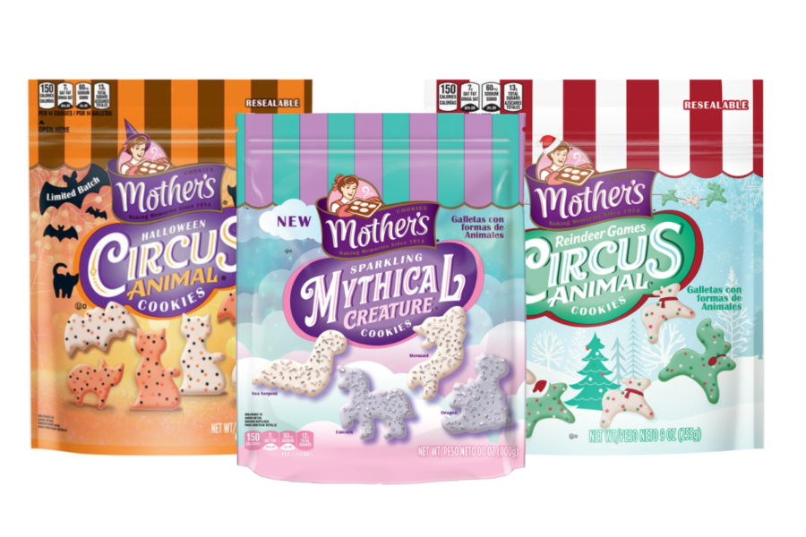 Mothers halloween, mythical and reindeer games animal cookies