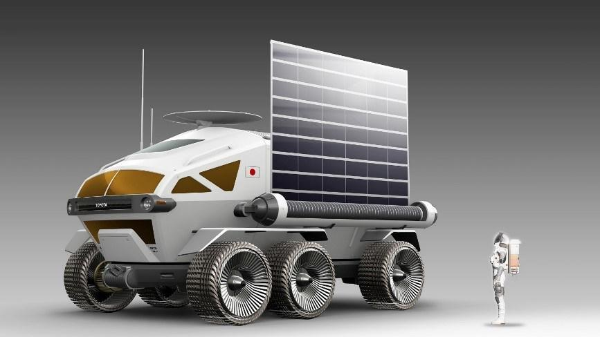Manned, pressurized rover for lunar surface mobility and exploration. Courtesy of Toyota Motor Corporation